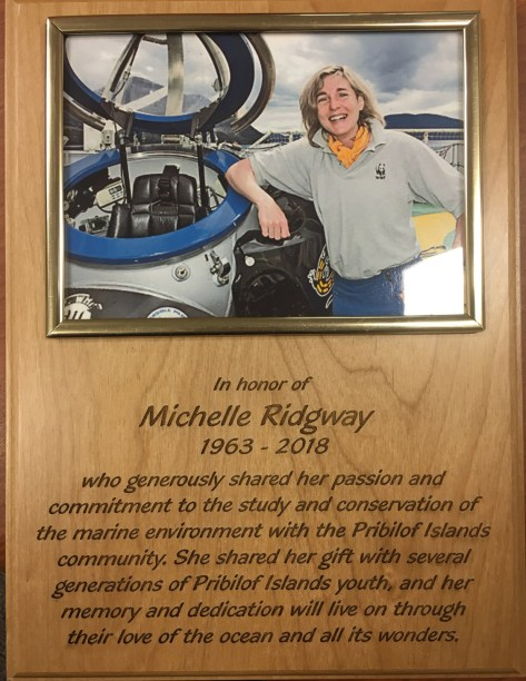 plaque honoring Michelle Ridgeway