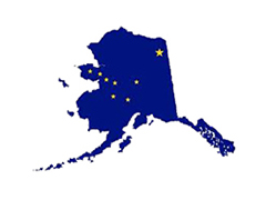 Map of the state of Alaska