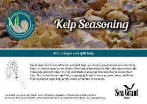 Front of kelp seasoning recipe card