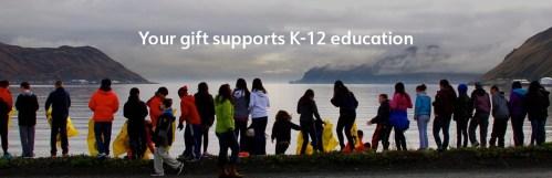 School children picking up garbage in Unalaska