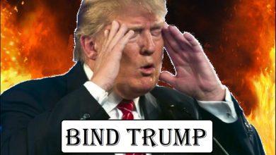 صورة عنصرية ترامب تحرق أمريكا