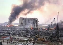 صورة لا شيء يطغى على حدث بيروت وانفجار مرفأها، ونكبة أهلها وصدمة سكانها وفجيعة شعبها،