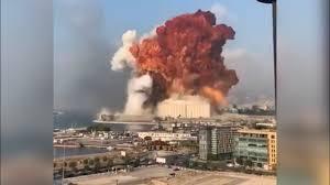 """صورة تفجير مرفأ بيروت يحاكي """"البرجين""""….الموساد هو الفاعل"""