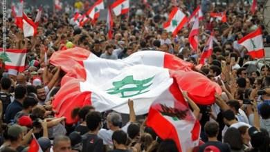 صورة متظاهروا لبنان ومتظاهروا العراق