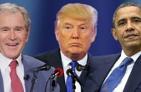 صورة رؤساء أمريكا من بوش الى ترامب في حلبة الشرق الأوسط مهزومين