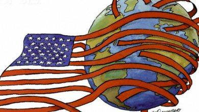 صورة ديمقراطية أمريكا وهيمنتها على العالم .. !