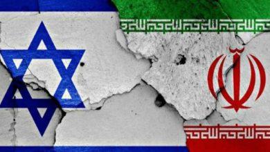 صورة ايران ويد اسرائيل  الملطخة بالدم