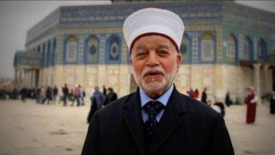 صورة مفتي القدس: الاعتداء على المسجد الأقصى هو بداية لحرب دينية