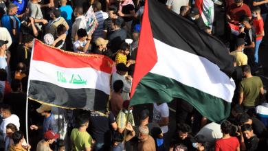 صورة نصرة لفلسطين.. مئات العراقيين يتجهون للحدود مع الأردن
