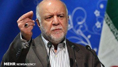 صورة وزیر النفط الإيراني: مشروع نقل النفط الى جاسك مؤشر على كسر الحظر