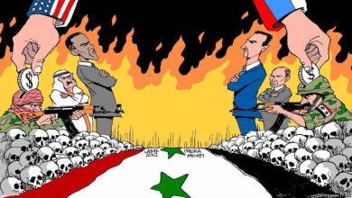صورة هزيمة أميركا الأفغانية ونصر روسيا السوري