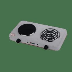 طباخ كهربائي مسطح كراون - أبيض