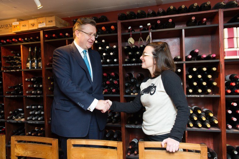With Neleen Strauss of High Timber restaurant