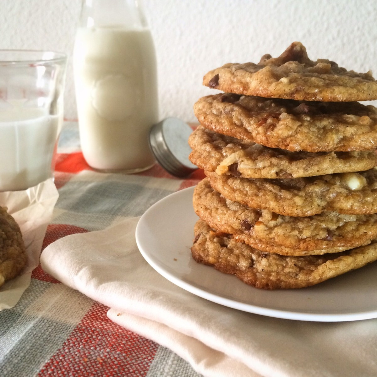 Chewy Wheat Germ Coconut Chocolate Chip Cookies