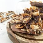 Salted Caramel Pretzel Chocolate Bark