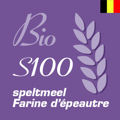 Belgische bio speltmeel S100