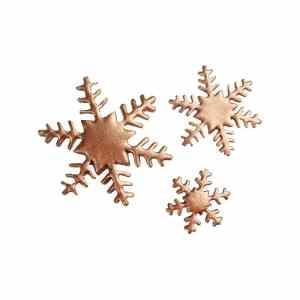 bronzen ijskristallen