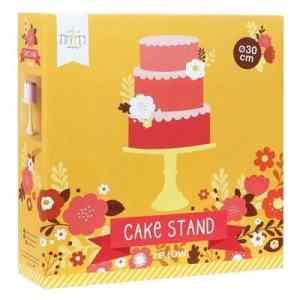 Gele taartplateau