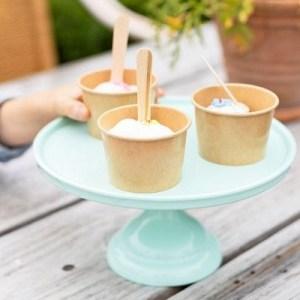 mintgroene taartplateau