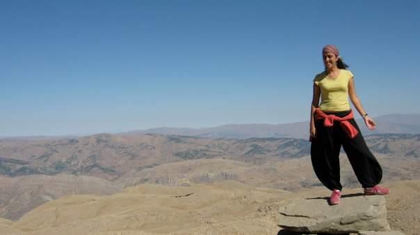 Foto mía en el Monte Nemrud en Turquía