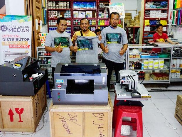 Pelanggan As Medan yg membeli paket usaha printing kaos sablon digital