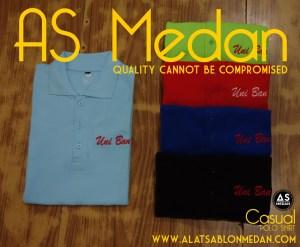bordir kaos, bordir satuan, bordir baju, bordir polo shirt
