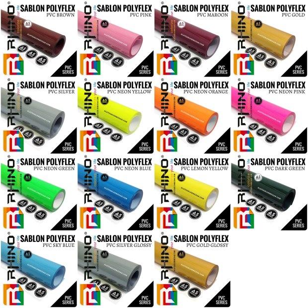 Bahan Sablon Polyflex Korea Polyflex PVC (Rhinoflex)