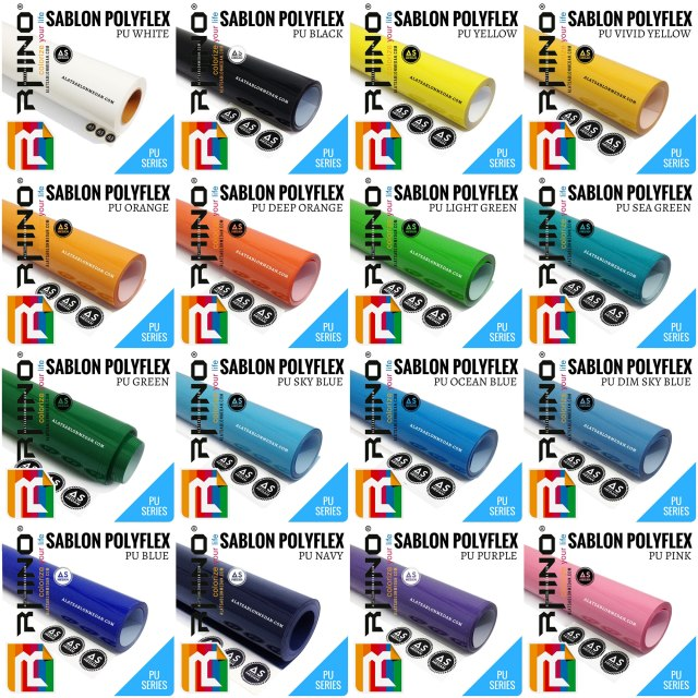 Bahan Sablon Polyflex Korea Polyflex PU (Rhinoflex)