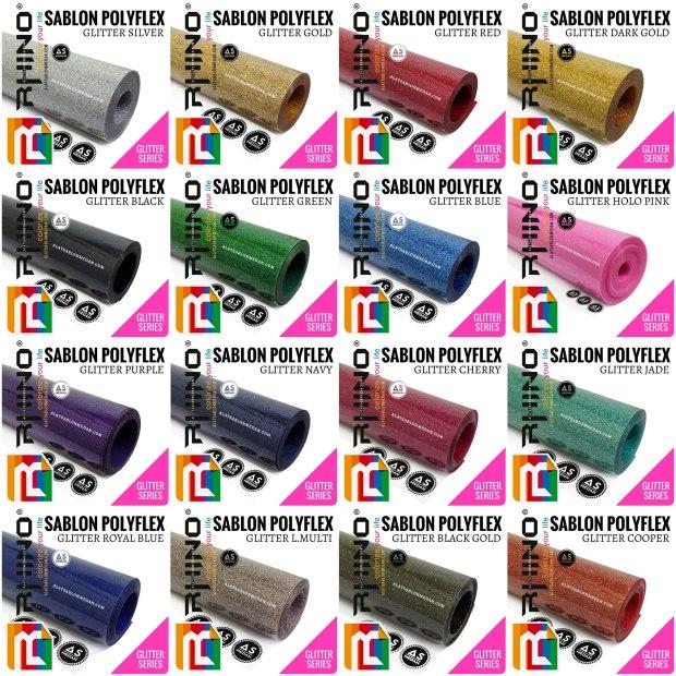Bahan Sablon Polyflex Korea Polyflex Glitter (Rhinoflex)