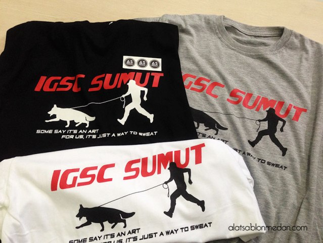 SABLON KAOS INDONESIAN GERMAN SHEPHERD CLUB WILAYAH SUMATERA UTARA