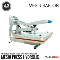 Mesin heat press kaos hidrolik
