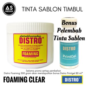 Tinta Sablon Kaos Distro Foaming Tinta Busa Clear Transparan