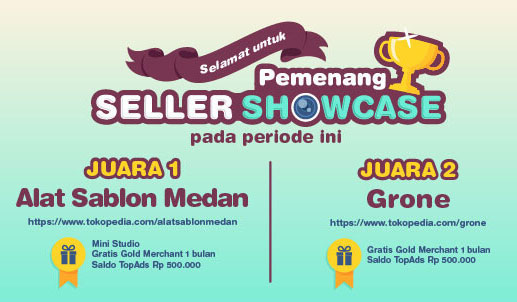 AS MEDAN pemenang juara 1 Seller Showcase Tokopedia