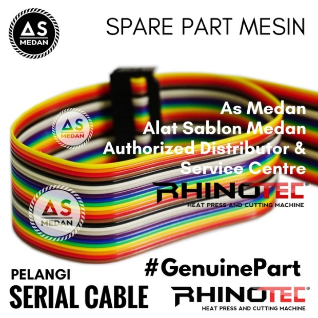 Serial Cable Pelangi Sparepart Alat Sablon Digital Mesin Cutting Rhinotec