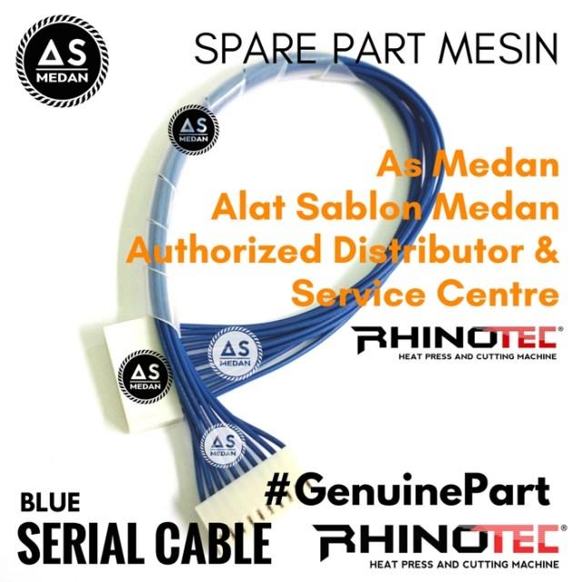 Serial Cable Blue Sparepart Alat Sablon Digital Mesin Cutting Rhinotec