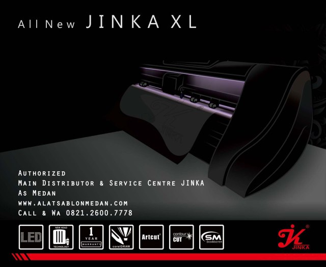Mesin cutting sticker All New Jinka XL
