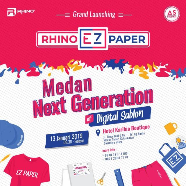 Grand launching Rhino EZ Paper Medan