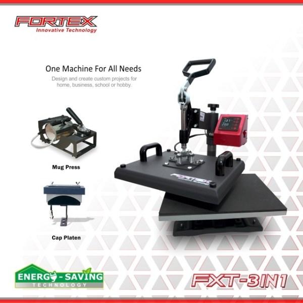 Mesin press 3in1 Fortex