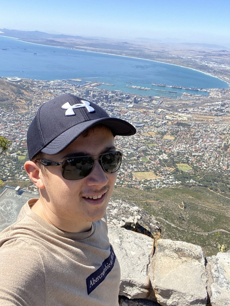 Selfie from the top of Table Mountain
