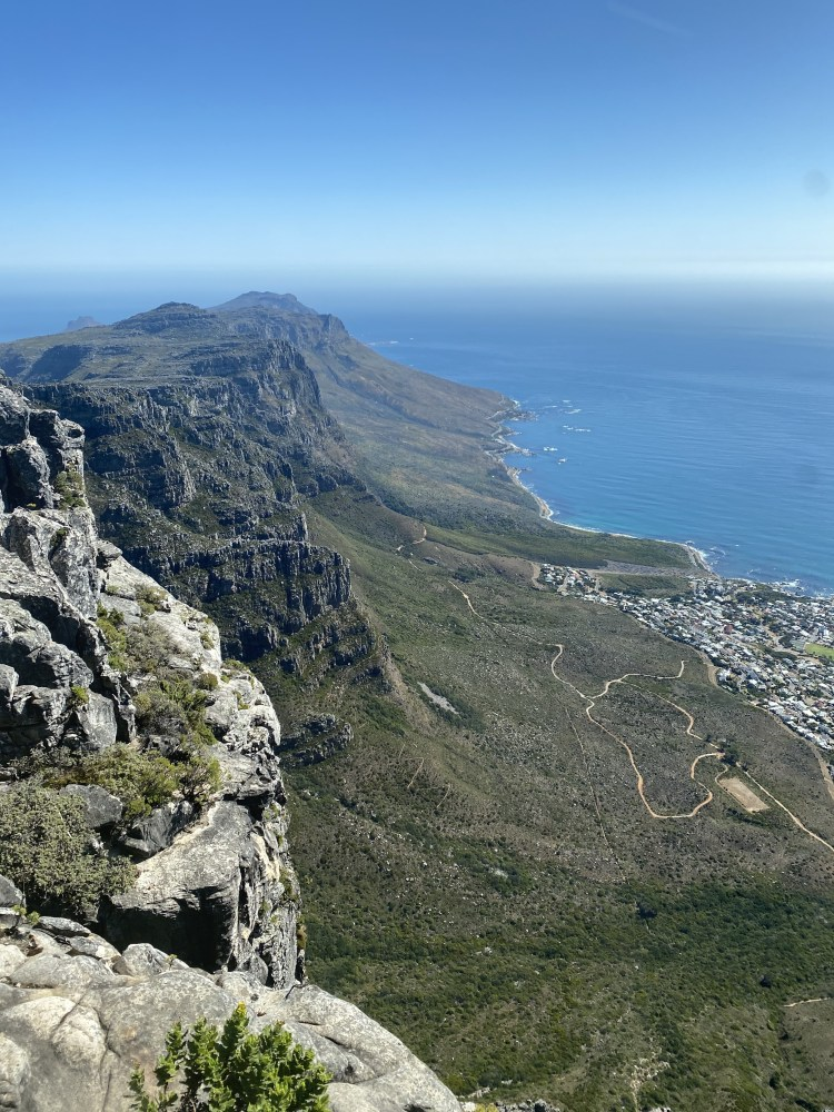 East view from the top of Table Mountain