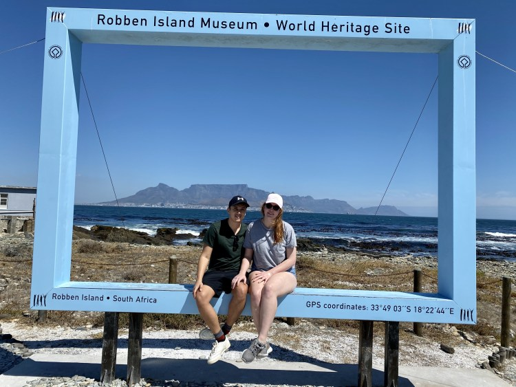 Robben Island Musuem looking onto Table Mountain