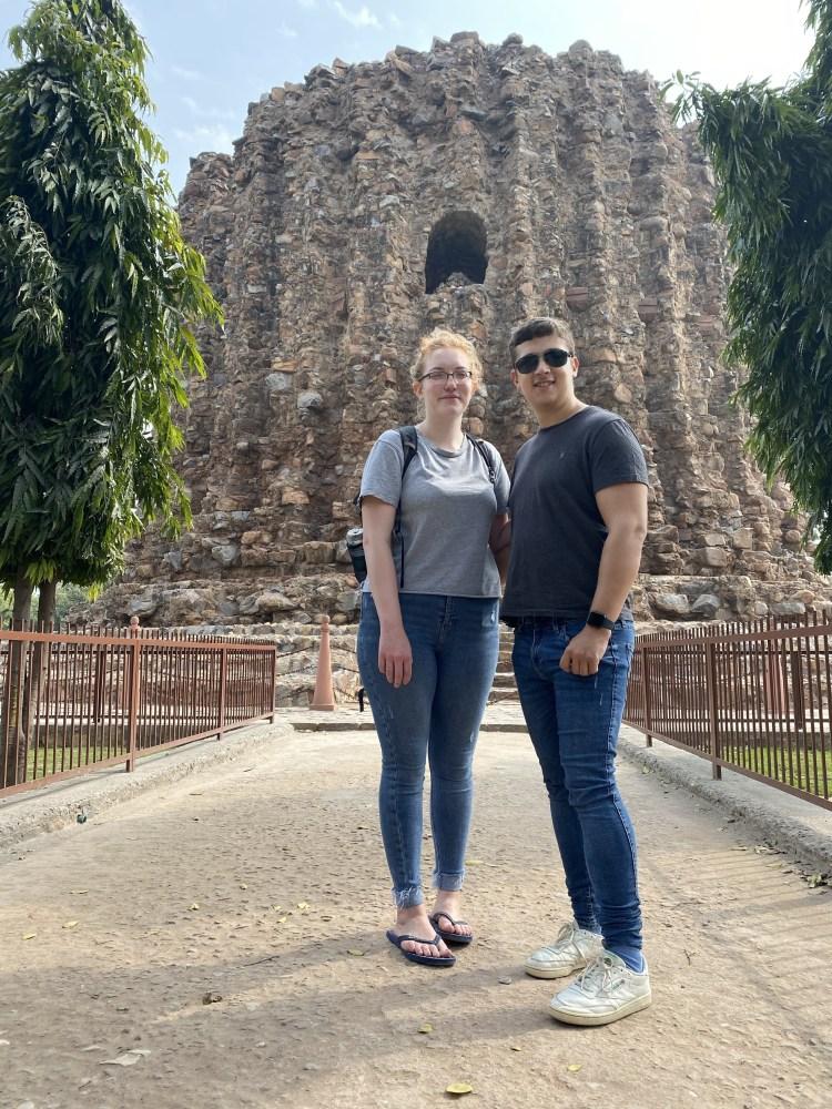 Selfie inside Qutub Minar