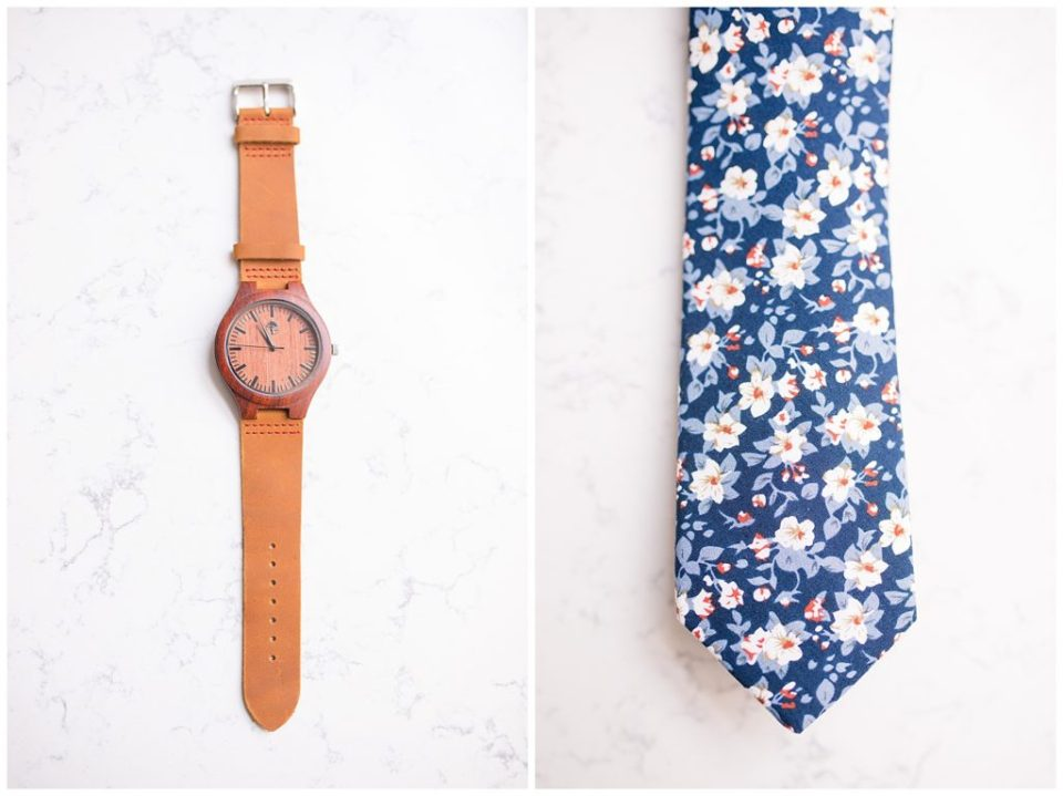 men's tan and wood watch