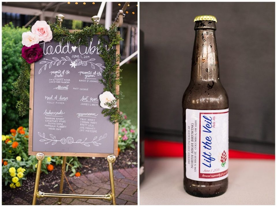 custom beer bottle from high line brewing at dock 580 wedding