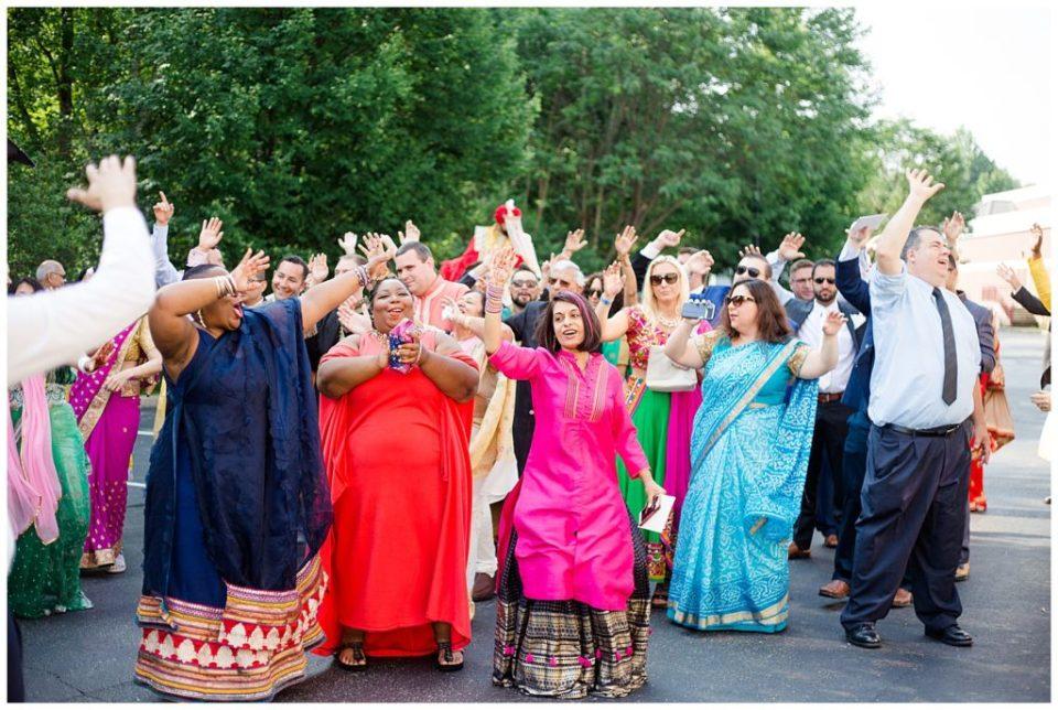 traditional indian dancing for baraat at bertram inn