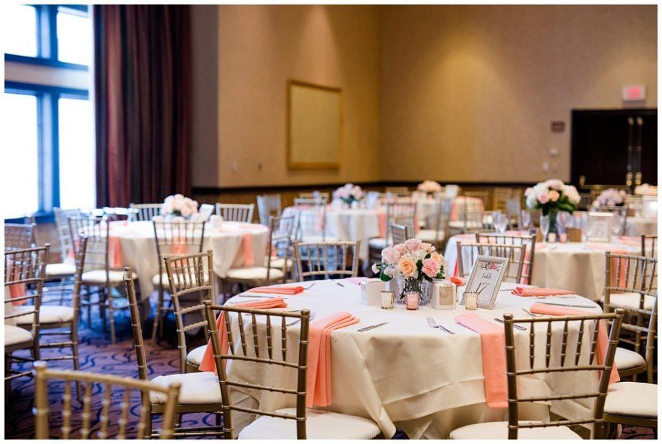 round tables at reception at bertram inn