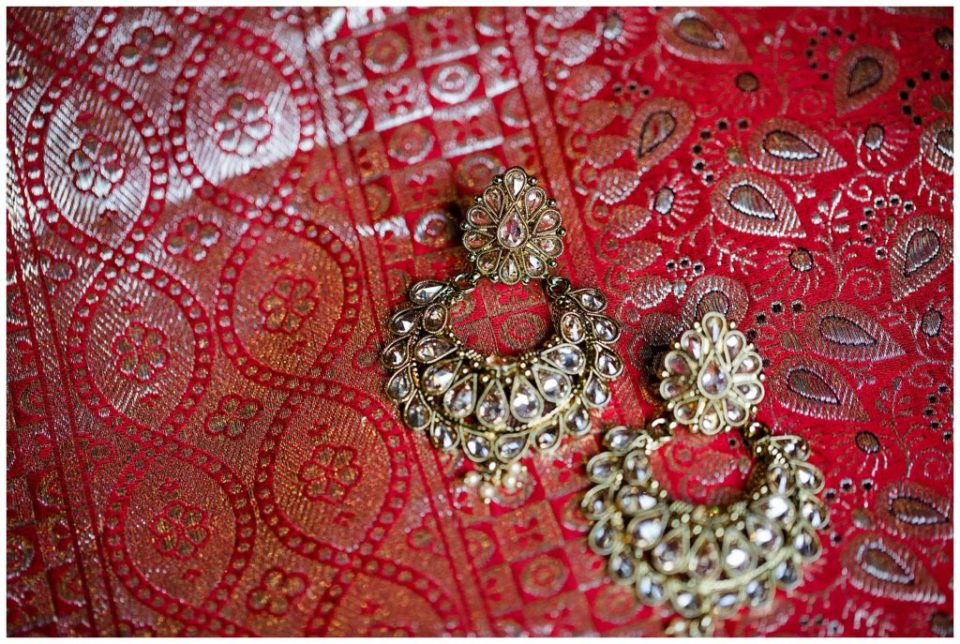 gold earrings for indian bride