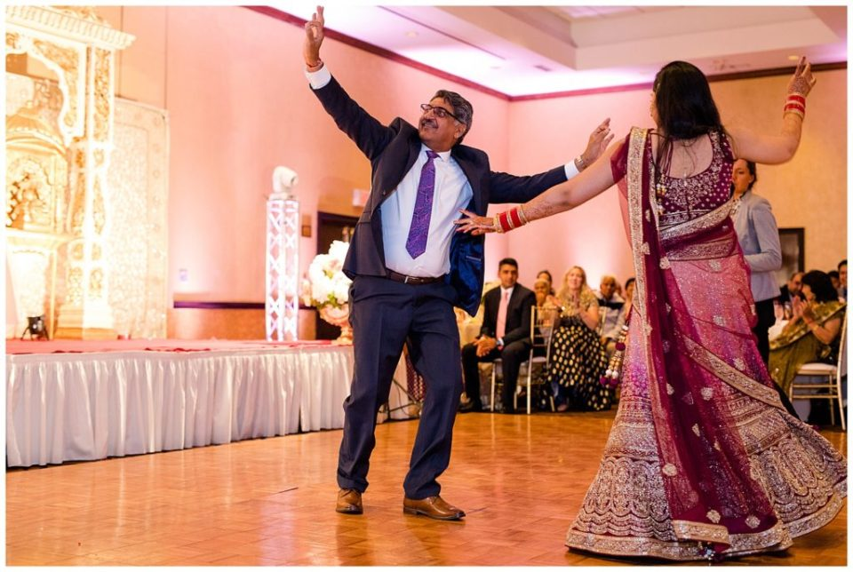 bride and father do indian dance at bertram inn