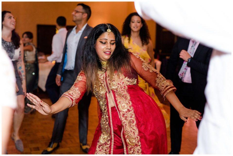 indian guests dancing at bertram inn