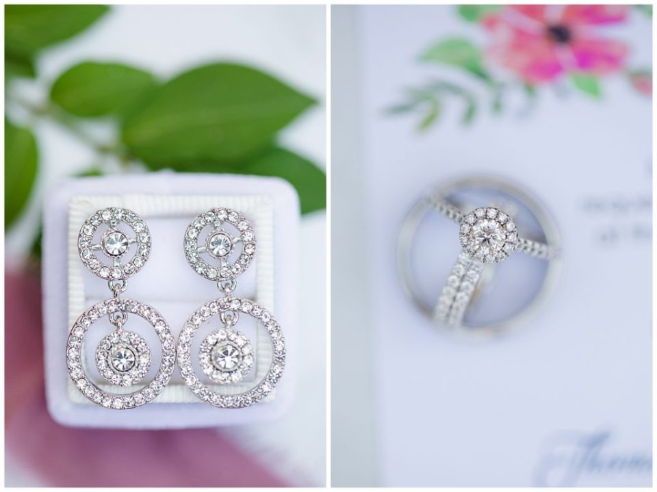 diamond circular dangly earrings